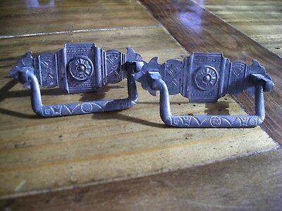 Antique Eastlake/Victorian style drawer pulls Set of Two (Lot R-26)
