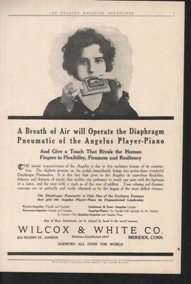 1913 Wilcox White Harmonica Music Player Piano Song   Ad 10854