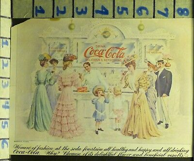 1905 Coca Cola Coke Fountain Jerk Massengale Insert Trade Card Ad Vintage  V17