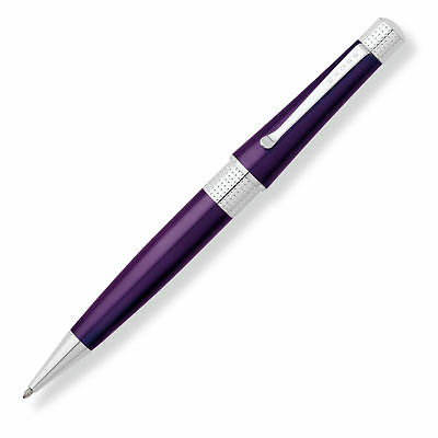 Cross Beverly Deep Purple Lacquer Ballpoint Pen - New In Box - AT0492-7  - New