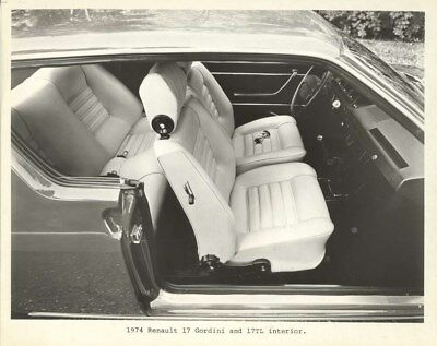 1974 Renault 17 Gordini & 17 TL Interior ORIGINAL Factory Photo oua2170