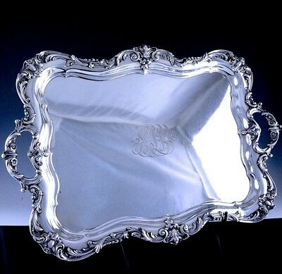 Incredible Huge Reed & Barton Francis 1St Sterling Silver Serving Platter Tray