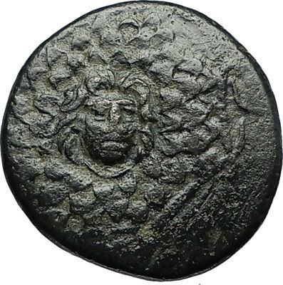 AMISOS in PONTUS 105BC Mithradates VI the Great - Gorgon Nike Greek Coin i67179