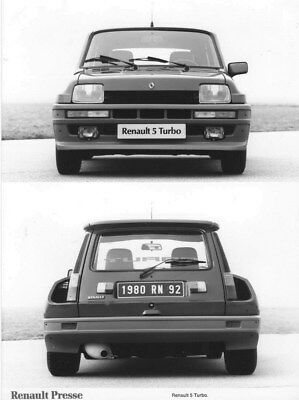 1980 Renault 5 Turbo ORIGINAL Factory Photo oua2234