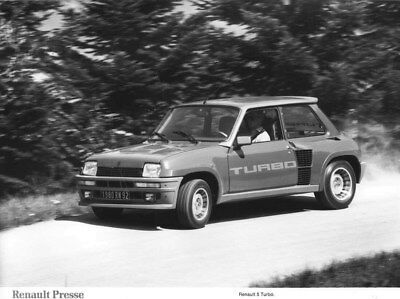 1980 Renault 5 Turbo ORIGINAL Factory Photo oua2235