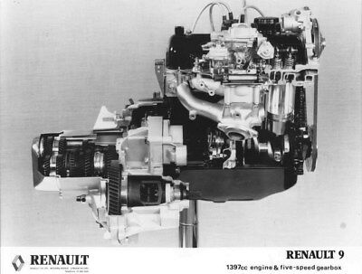 1983 Renault 9 Engine & 5 Speed Gearbox ORIGINAL Factory Photo oua2274