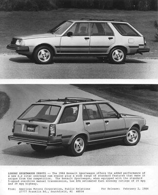 1984 Renault Sportwagon ORIGINAL Factory Photo oua2290