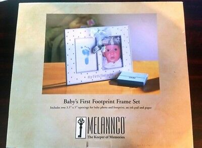 Melannco Baby's First Footprint Frame Set - New in Box