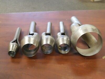 Adaco LOT OF 5 CUTTING TOOLS ARCH PUNCHES