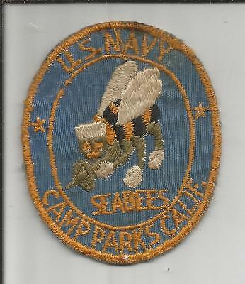 WW 2 US Navy Seabees Camp Parks California Patch Inv# S266