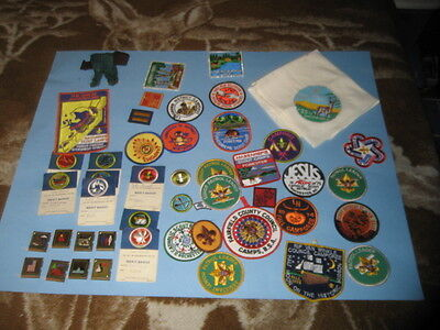 VINTAGE LOT OF 45 BSA BOY SCOUT O Badges / CAMPOREE PATCHES 1970's