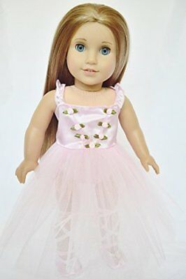 """Doll Clothes Fit AG 18"""" Ballerina Dress and Slippers Pin Made American Girl Doll"""