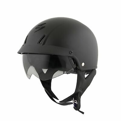 Scorpion EXO EXO-C110 Half Helmet Solid Matte Black Mens All Sizes