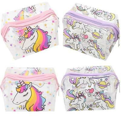Women Girl Unicorn Travel Cosmetic Make Up Bag Pencil Case School Bag D