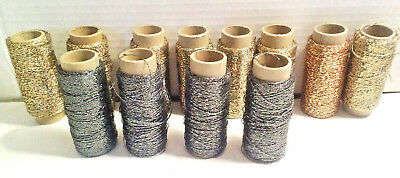 Vintage Gold Metallic Thread/String Multi colored