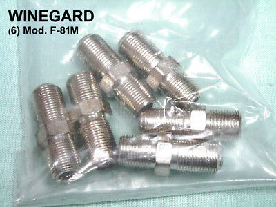 "(6) F-81M WINEGARD COAXIAL ""Bullets"" for F-56, F-59 or F-11 Cable Connectors"