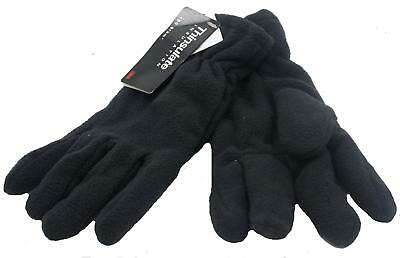 Ladies Womens Fleece Gloves with Elasticated Cuff Thinsulate Insulation