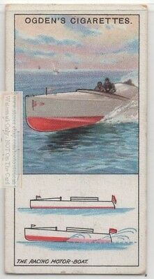 Why Racing Speed Boat Is Fast c90 Y/O Trade Ad Card