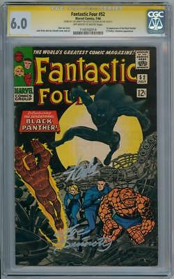 FANTASTIC FOUR #52 CGC 6.0 SIGNATURE SERIES SIGNED x2 STAN LEE 1ST BLACK PANTHER