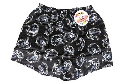 Warner Brothers Looney Tunes Black White Taz and Bugs Music Mens Silk Boxers NWT