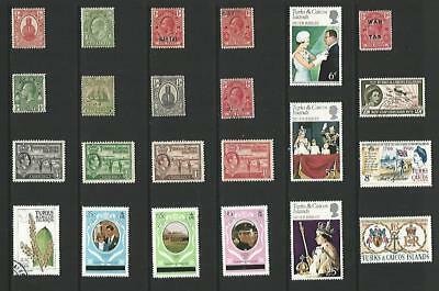 y3890 Turks & Caicos Islands / A Small Collection Early & Modern Umm Lhm & Used