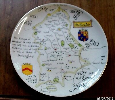 Plate Map of Staffordshire Nelson Ware Elijah Cotton Hand Painted Morag