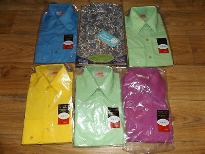 Vintage Boys/ small mens shirts 1960/70s never been opened.