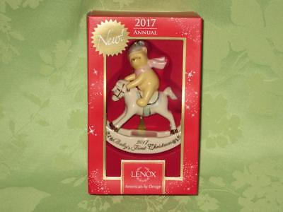Lenox ~ 2017 ~ Baby's 1st Christmas ~ Winnie the Pooh Rocking Horse ~ free ship