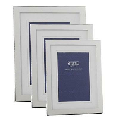 """Modern Silver Plated Double Mount Box Frame 4 x 6"""" (10 x 15cm)"""