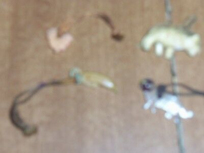 Three Very Small Animals And Banana On Strings, Crafts,kids Toys,