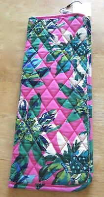 Vera Bradley Curling & Flat Iron Cover-Tropical Paradise- floral pink green blue