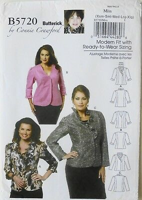 Butterick 5720 Misses/'//Women/'s Jacket    Sewing Pattern