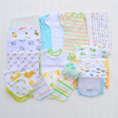BRAND NEW 23 Piece Gender Neutral Baby Essentials Bundle Lot  Carter's Gerber