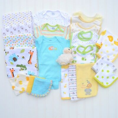 BRAND NEW 24 Piece Gender Neutral Baby Essentials Bundle Lot Carter's Gerber