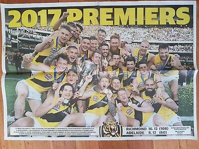 AFL Richmond Tigers Premiers 2017 Herald Sun Poster