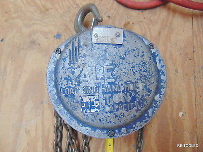 Yale 1 Ton Load King Hand Pull Chain Hoist 24' Pick Chain, RIGGING TOOL HOIST
