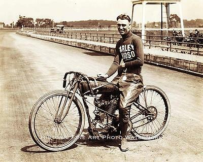 HARLEY-DAVIDSON MOTORCYCLE PHOTO VINTAGE AMERICAN RACE TRACK EARLY 1900s #20625