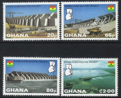Ghana 1982 Kpong Hydro-Electric Project Mnh Set Of 4