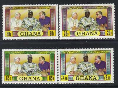 Ghana 1981 First Anniv Of Papal Visit Mnh Set Of 4