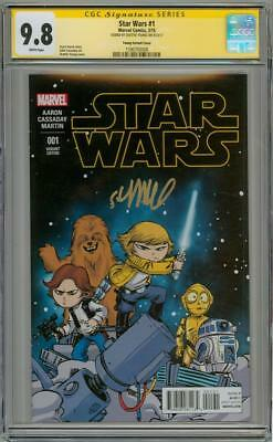 Star Wars #1 Variant Cgc 9.8 Signature Series Signed Skottie Young Marvel Movie