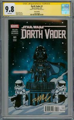 Darth Vader #1 Variant Cgc 9.8 Signature Series Signed Young Star Wars Movie