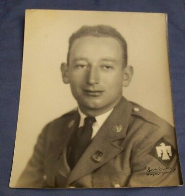 Wwii Soldier 8X10 Portrait 45Th Inf Div Signed Named Myer Fogel Dated 1941