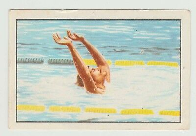 1976 Portugese Olympic Games Sticker Stamp USA Record Swimmer Mark Spitz #185