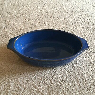 Denby Imperial Blue open small oval dish- used but in great condition