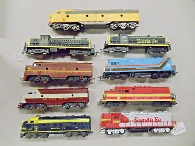 Lot of 9 HO Train Engines for Repair or Parts