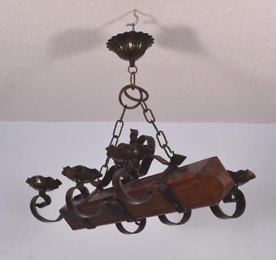 *Vintage French Castle Chandelier Hanging Lamp