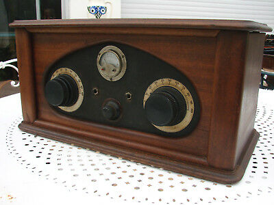 Superbe Poste Radio Tsf A Batterie A 5 Lampes