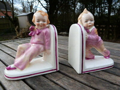 LOVELY PAIR OF VINTAGE 1930s/50s CERAMIC BOOKENDS.