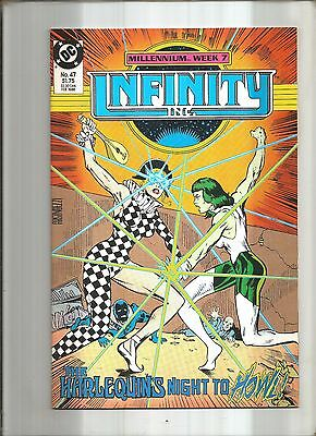 Infinity Inc. #47  Justice Society  Millennium Cross-Over  Dc 1986  Nice!!!