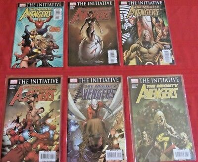 Avengers : The Mighty Avengers  Complete  Set 1-36  Marvel  2007 Nice!!!